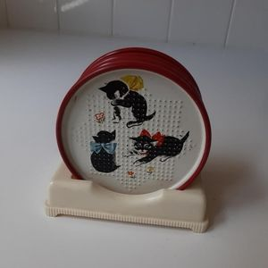Vintage kitten coasters